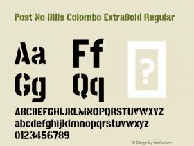 Post No Bills Colombo ExtraBold