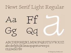 Newt Serif Light