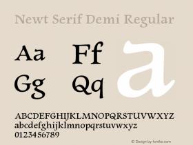 Newt Serif Demi