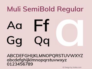 Muli SemiBold