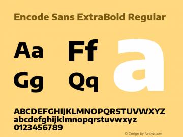 Encode Sans ExtraBold