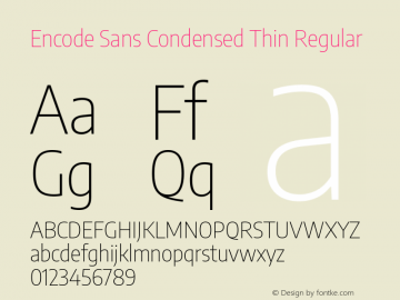 Encode Sans Condensed Thin