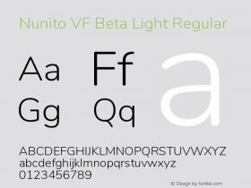Nunito VF Beta Light