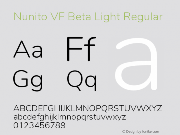 Nunito VF Beta Light