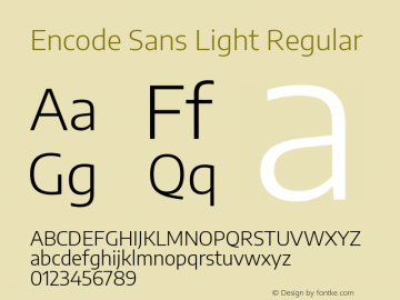 Encode Sans Light