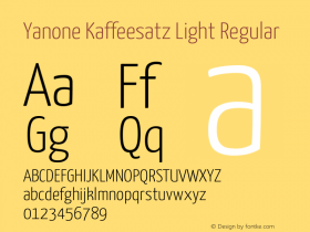 Yanone Kaffeesatz Light