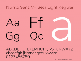 Nunito Sans VF Beta Light