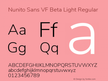 Nunito Sans VF Beta Light