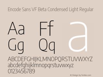 Encode Sans VF Beta Condensed Light