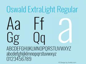 Oswald ExtraLight