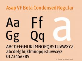 Asap VF Beta Condensed