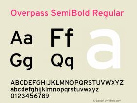 Overpass SemiBold
