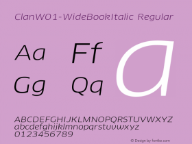 Clan-WideBookItalic