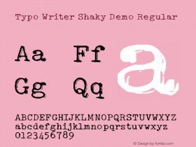Typo Writer Shaky