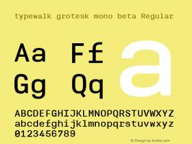 typewalk grotesk mono