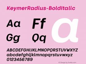 KeymerRadius-BoldItalic