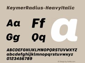 KeymerRadius-HeavyItalic