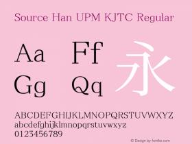 Source Han UPM KJTC