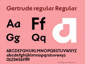 Gertrude regular