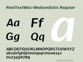 RealText-MediumItalic