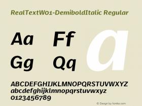 RealText-DemiboldItalic