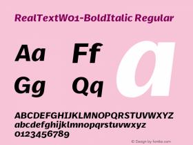 RealText-BoldItalic
