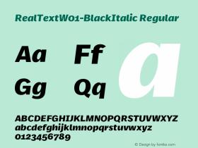 RealText-BlackItalic