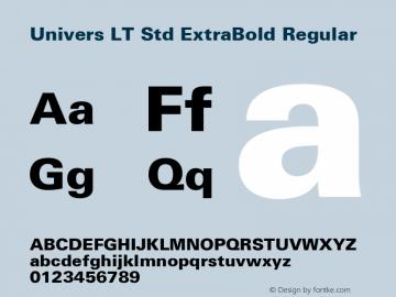 Univers LT Std ExtraBold