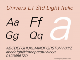 Univers LT Std Light