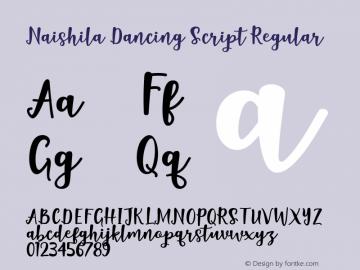 Naishila Dancing Script