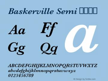 Baskerville Semi