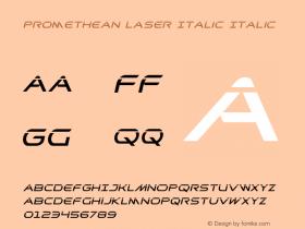 Promethean Laser Italic