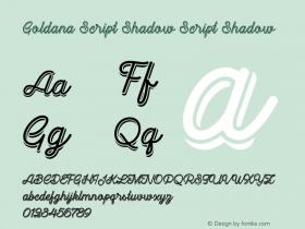 Goldana Script Shadow