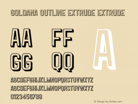 Goldana Outline Extrude