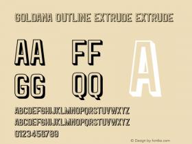 Goldana Outline Extrude