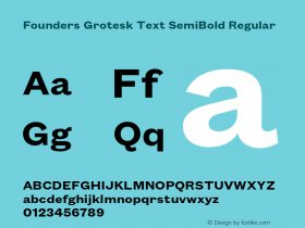Founders Grotesk Text SemiBold