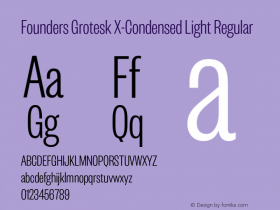 Founders Grotesk X-Condensed Light