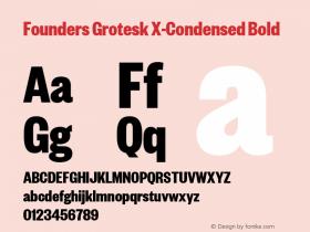 Founders Grotesk X-Condensed