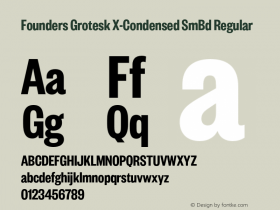 Founders Grotesk X-Condensed SmBd