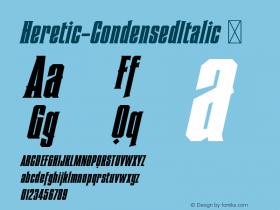 Heretic-CondensedItalic