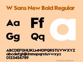W Sans New Bold