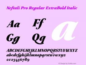 Neftali Pro Regular ExtraBold