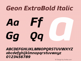 Geon ExtraBold