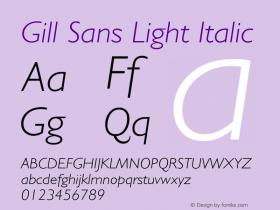 Gill Sans Light