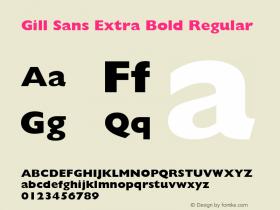 Gill Sans Extra Bold