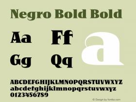 Negro Bold