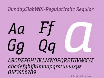 BundaySlab-RegularItalic