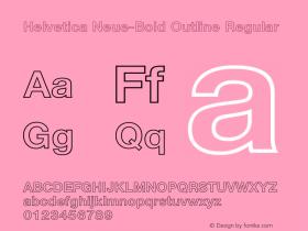 Helvetica Neue-Bold Outline