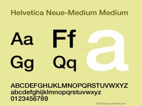 Helvetica Neue-Medium