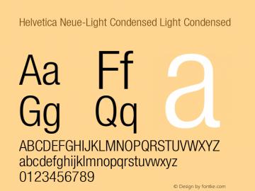 Helvetica Neue-Light Condensed